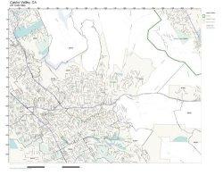 Working Maps Zip Code Wall Map Of Castro Valley Ca Zip Code Map Not Laminated