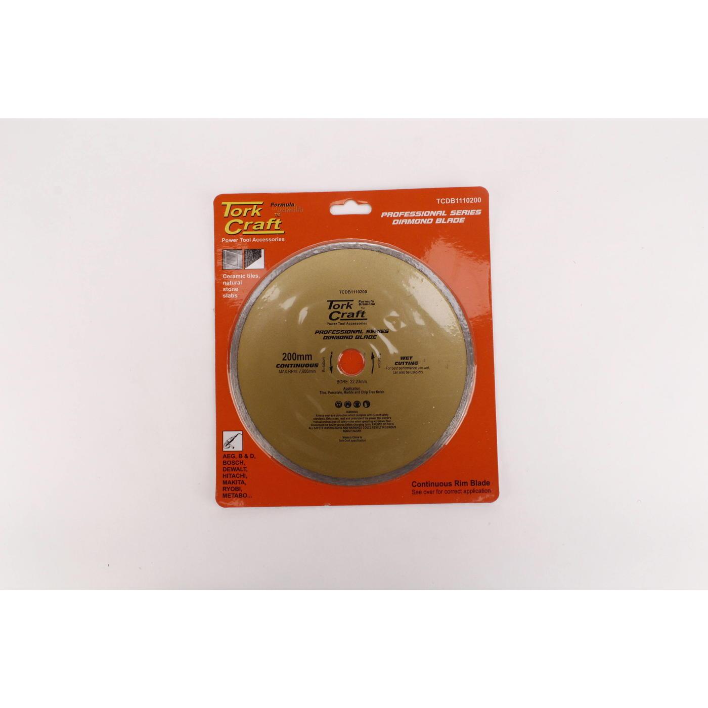 Tork Craft Diamond Bld 200 X 22.22 Cont Rim
