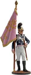 Standard Bearer Of The Infantry Regiment Tin Toy Soldiers Metal Sculpture Miniature Figure Collection 54MM Scale 1 32 NAP-63-COLOR