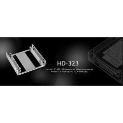 """Lian-li HD-323 Silver 2X 2.5"""" Hdd ssd To 3.5"""