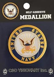 USA C&d Visionary Licenses Products Navy Self-adhesive Medallion
