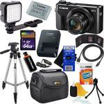 Canon Powershot G7 X Mark II Digital Camera W 1? Sensor Tilt Lcd Screen Wi-fi & Nfc Enabled Black International Version + LED Li