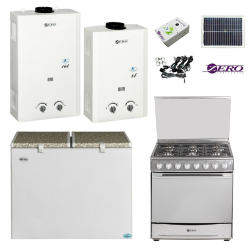 Off The Grid Special Bundle - Gas Stove Gas Fridge freezer Gas Water Heaters & Solar Lighting