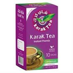 Karak Tea Instant Premix Cardamon 10 Sticks Unsweetened Retail Box No Warranty