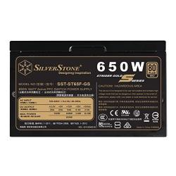 Silverstone Technology 650W Computer Power Supply Psu Fully Modular With 80 Plus Gold & 140MM Design Power Supply SST-ST65F-GS