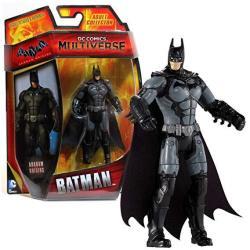 Mattel Year 2014 Dc Comics Multiverse Batman Arkham Origins Series 4 Inch Tall Action Figure - Batman CDW40 With Grey Belt