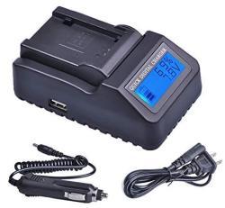 LCD Quick Battery Charger for Canon XA40 XF400 XA45 XA50 XF405 4K Camcorder XA55