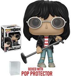 Funko Pop Rocks: Music - Joey Ramone 55 Vinyl Figure Bundled With Pop Box Protector Case