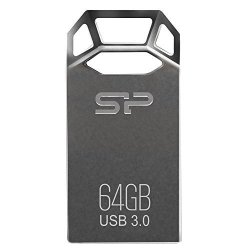 SILICON POWER COMPUTER AND COMMUNICATIONS USA INC. Silicon Power 64GB Jewel J50 USB 3.0 Zinc-alloy Compact Flash Drive Titanium Edition SP064GBUF3J50V1TBT