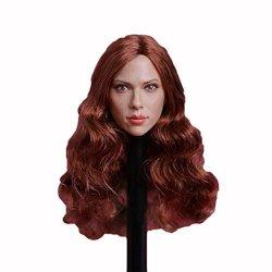 Long Hair HiPlay 1//6 Scale Female Figure Head Sculpt Doll Head for 12 Action Figure Phicen HT HP040 TBLeague