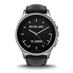 VECTOR Watch Luna SMARTWATCH-30 Day Autonomy 5ATM Notifications Activity Tracking - Steel Case