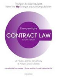 Contract Law Concentrate - Law Revision And Study Guide Paperback 4 Revised Edition