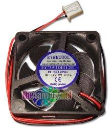 Evercool 35MM X 10MM 12 Volt Everlube Bearing Fan W 2 Pin 7MM Connector EC3510H12E Tivo Roamio
