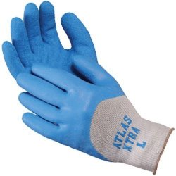Miller Supply, Inc. Atlas Gloves - Palm Coated - Xtra - 3 4 Latex Dipped - Seamless Poly-cotton Liner Size: XL 12 Pairs Of Glove