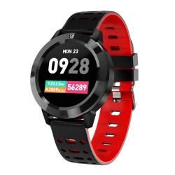 CF58 1.3 Inch Ips HD Color Screen Smart Bracelet Silicone Band IP67 Waterproof Support Call Reminder Heart Rate Monitoring Pedometer Blood Pressure Monitoring Blood Oxygen Monitoring