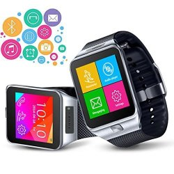 InDigi Unlocked 2- In -1 GSM Wireless Bluetooth Sync Smartwatch Phone With Built- In Camera