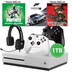 Xbox One S 1tb Console Extra Controller Triton Headset Forza 7 Apex Coins Fortnite Vbucks R Consoles Pricecheck Sa