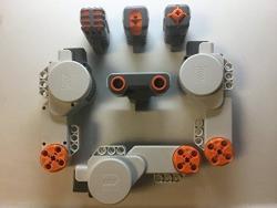 Lego Mindstorms Bundle 3 Servo Motors & Ultra Sonic Light Sound & Touch Sensors