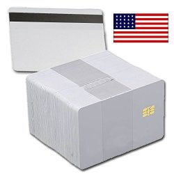 Card Printer Pros 100 Pack - SLE4442 Chip Cards With Hi-co Magnetic Stripe Pvc - Sle 4442