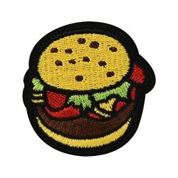 Fullfun Embroidered Iron On Patches For Clothing Burger pineapple coke rose Diy Motif Applique Burger