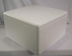 """2 Premium Quality Thermal Shippers Styrofoam Boxes With Lids 12"""" X 12"""" X 7"""" D"""