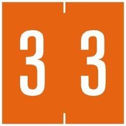 Tabbies Chart Label 1-7 8 Inch Orange - 500 Label Per Roll
