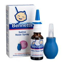 Bennetts - Saline Nose Spray With Aspirator 30ML