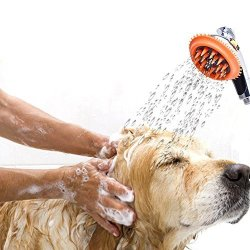 Awtang Pet Dog Shower Spray Bathing Handheld Shower Head Silicone