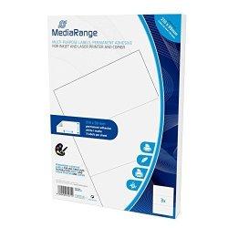 Mediarange MRINK142PERMANENT Adhesive Labels Self-adhesive Tapes White Label Permanent 210X 99150PI Ce White S A4 Matt Laser inkjet