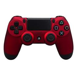 Extremerate Soft Touch Grip Front Housing Shell Faceplates For PS4 Controller JDM-001 JDM-011 JDM-020 - Red