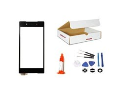 """MD0410 Black Front Glass Lens Screen With Touch Digitizer Flex Cable Replacement Compatible For Sony Xperia Z5 5.2"""" E6603 E6683 E6653 E6633 With Repair"""