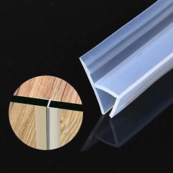 Glass Shower Door Seal Strip 196 Inch Frameless Shower Door Bottom Seal To Stop Shower Leaks Flexible Weatherproof Silicone Seal