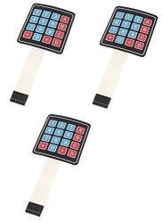 JGFinds 4 X 4 Matrix Array 16 Key Membrane Switch Keypad Keyboard For Arduino Avr Pic 3 Pack