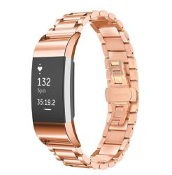 Fitbit Charge 2 Stainless Steel Link Bracelet - Rose Gold