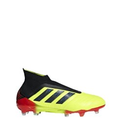 Adidas Men's Predator 18PLUS Firm Ground Soccer Boots - Yellow black red
