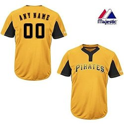 premium selection d95d6 ad2e7 Pittsburgh Pirates Yellow Black Majestic Jersey Custom Adult Small  Pittsburgh Pirates 2-BUTTON Placket Cool-base Mlb Licensed Jersey   R    Sunglasses ...