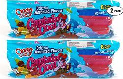 Freeze Pops Ice Pops Captain Cool Fruity Icee Icicle No Coloring Kosher Original Assorted Flavors 2-PACK