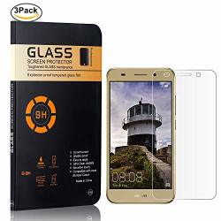 The Grafu Screen Protector Tempered Glass For Huawei Y3 2018 Bubble Free 9H Scratch Resistant Screen Protector Film For Huawei Y3 2018 3 Pack