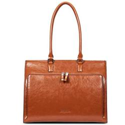 Bostanten Women Genuine Leather Briefcase Tote Business Vintage Handbag 15.6 Laptop Shoulder Bag