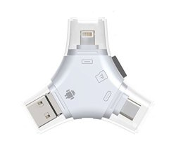 timeless design d61d4 a540a JUNEO Tkstar 4 In 1 Type C lightning micro Usb usb 2.0 Memory Card Reader  Micro Sd Card Reader For Android Ipad iphone 7 Plus 6S | R1310.00 | Other  ...