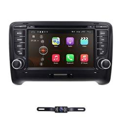 7 Inch Android 8.1 Double Din Car Stereo Radio DVD Player For Audi Tt MK2 2006-2014 Support Steering Wheel Control Gps Navigatio