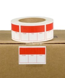 EcoBox 3 X 2 Inches Color Coded Mover's Labels E-3962-RED
