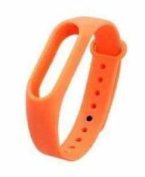 Smart Silicone Bracelet Color Replacement Wristband Waterproof Wear-resistant Breathable For Xiaomi Band 4 Sports Smart Watch Bracelet Accessories Orange