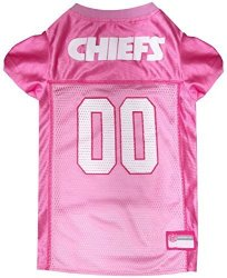 Nfl Kansas City Chiefs Dog Jersey Pink X-small. - Football Pet Jersey In Pink