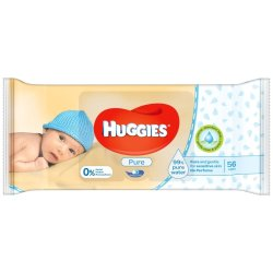 Huggies - Pure Baby Wipes 56S