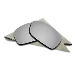d4af291ab9 Titanium Silver Mirrored Polarized Lenses Replacement For Oakley Hijinx  Sunglasses