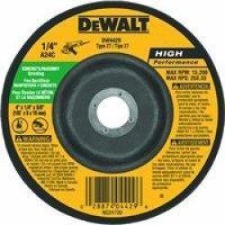 DEWALT DW4429 4-INCH By 1 4-INCH By 5 8-INCH Concrete masonry Grinding Wheel