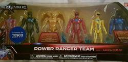Bandai Collectible Power Rangers Team 6-PIECE Set With Exclusive Metallic Goldar Limited Edition