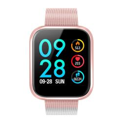 Color Touch Screen IP68 Waterproof Fitness Smart Watch - Pink