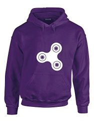 Fidget Spinner Adult's Hoodie - Purple white XL